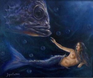 Sirena – olio su tavola 35×30