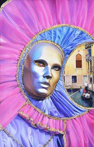 3 El sol e la luna a Venesia - 50x33 LUMINOSA